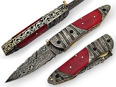 Tennessee Tailor Pocket Knife Damascus Steel Blade and Double Bolsters Decorative Bone Handle ** Be sure to check out this awesome product.(This is an Amazon affiliate link and I receive a commission for the sales)