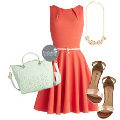The Luck Be a Lady Dresses are certainly one of our favorites. This fit and flare frock in coral is a look that will surely turn heads!