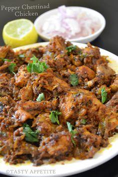 Hot N Spicy  Pepper Chicken Chettinad  http://tastyappetite.blogspot.in/2012/04/pepper-chicken-chettinad-milagu-kozhi.html