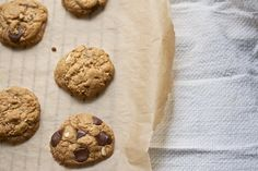 Flourless pb choc cookies