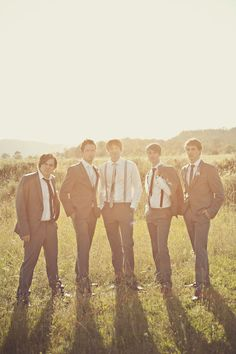 Umm pictures of Garrett and his groomsmen outside...we have none like that...only the formals....