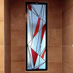 Stained Glass Window Film, Modern Stained Glass, Stained Glass Designs, Stained Glass Panels, Stained Glass Projects, Stained Glass Patterns, Stained Glass Art, L'art Du Vitrail, Mural Wall Art