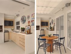 Projeto de apartamento de 103m² com espaços bem distribuídos, marcenaria bem planejada e decoração neutra.