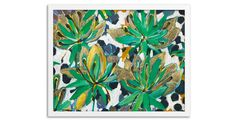 Bold strokes of brilliant color fill this organically-inspired work from Lulu DK. Printed on fine-art paper, this reproduction comes beautifully framed in white wood molding.Designer Lulu...