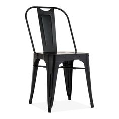 Cult Living Shoreditch Metal Side Chair, Black
