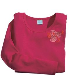 Kuta Stitch - Rasberry Long-Sleeve Baby Rib T