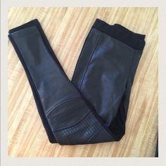 Zara Black Faux Leather Leggings Super chic! W&B Collection. Size 5. Zara Pants Leggings