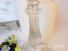Detalle candelabro  de cristal vintage  Genoves Atelier