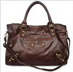 brown satchel with long strap