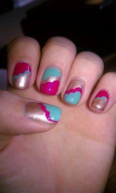 Clouds nail design