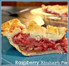 This Raspberry-Rhubarb Lattice topped pie is a fantastic summertime pie recipe! http://www.ifood.tv/recipe/raspberry-rhubarb-lattice-pie