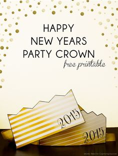 Happy New Year Party Crown Glue #printable