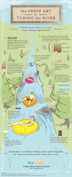 A Short Guide for a Good Float - Tubing the River [ #Infographic]