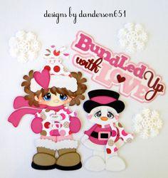 listed on ebay...danderson651 Girl, Snowman, Winter, Love, Paper Piecing…