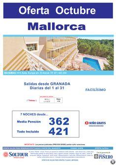 Mallorca - Oferta Hotel Bahamas, salidas diarias del 1 al 31 Octubre desde Granada ultimo minuto - http://zocotours.com/mallorca-oferta-hotel-bahamas-salidas-diarias-del-1-al-31-octubre-desde-granada-ultimo-minuto/