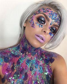 """5,635 Likes, 58 Comments - THE GYPSY SHRINE (@thegypsyshrine) on Instagram: """"✨DARK MERMAID✨ The amazing @hartyyy rocking our Dark Mermaid Face Jewel + Dark Mermaid Glitter ✨…"""""""