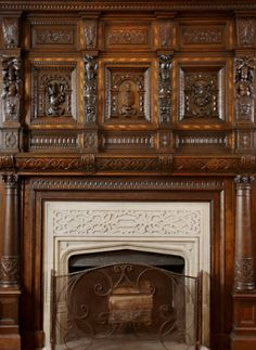 RIVERSIDE BEACON EXQUISITE FIREPLACE MANTEL IMPORTED FROM 17th CENTURY CASTLE IN SCOTLAND