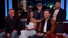 "The cast of Marvel's hotly anticipated ""Guardians of the Galaxy"" sequel popped up on Jimmy Kimmel Live on Monday and discussed their upcoming comic book actioner. Kimmel pressured Pratt to make some kind of revelation about the movie on the show. Not sure what to spoil, Pratt simply confirmed the movie's worst kept secret: Sly Stallone will cameo in the movie as Starhawk. Guardians of the Galaxy 2 reunites Kurt Russell and Sly Stallone, who starred in the 90s buddy cop come..."