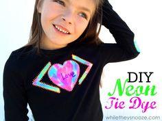 DIY Neon Tie Dye