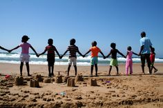 Children at the beach on the Wildlife  Photography and Conservation at Thanda Reserve