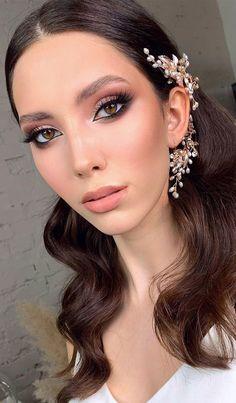 Boho Wedding Makeup, Boho Makeup, Glam Makeup Look, Nude Makeup, Glamorous Makeup, Neutral Makeup, Day Makeup Looks, Wedding Makeup Looks, Bridal Makeup For Brunettes