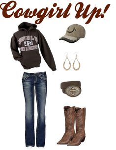 """Cowgirl Up!"" I have this whole outfit! :D I must be a real cowgirl!"