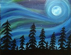 Northern Light Moonlight at The Wallace Gastropub - Paint Nite Events