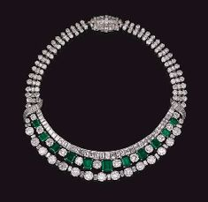 DIAMOND AND EMERALD NECKLACE, BY HARRY WINSTON  Emerald is my birthstone