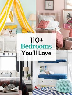 Our guide to bedroom design is jam-packed with more than 100 decorating tips and tricks. bedroom decorating #Sleepys