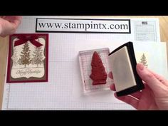 SU Lovely As A Tree     ▶ How to Create a Beautiful Embossed Christmas Tree Card - YouTube