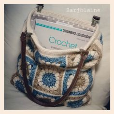 Lovely crocheted bag by Véronique on Barjolaine's