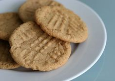 'flourless' peanut butter cookie recipe with only 3 ingredients (1 cup peanut butter, 1 cup sugar, 1 egg).