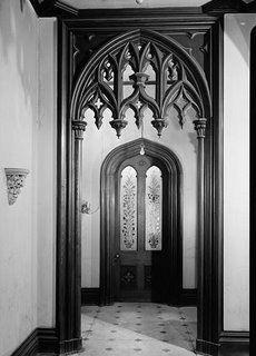 Gothic revival interior, Pittsburgh.