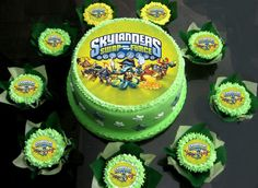 "Skylanders Swap Force Cake Topper Party Edible Icing Sugar 7.5"" 7th Birthday Cakes, Boy Birthday Parties, Birthday Ideas, Skylanders Party, Snowman Cake, Cake Icing, Cakes For Boys, Cake Toppers, Cake Decorating"