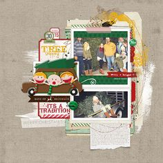 Tree Shopping such a cute christmas tree shopping scrapbook page for december daily #designerdigitals