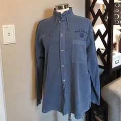 Button up Chambray Tops Button Down Shirts