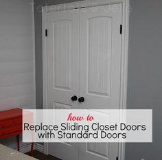 How To Replace Sliding Closet Doors with Standard Doors (tutorial)