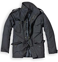 Black Military Jacket, Military Style Coats, Military Parka, Army Style, Style Gentleman, Military Fashion, Mens Fashion, M65 Jacket, Vintage Man