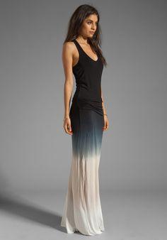 YOUNG, FABULOUS  BROKE Hamptons Dress in Black Sunset Ombre #ybf #hamptons