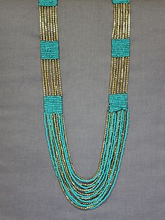 combo of the strung beads with the beads done on a loom; i couldn't find it anymore but i like this idea.