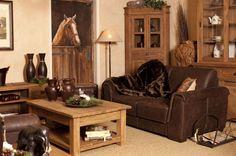 Landelijke woonkamer met teakhouten meubelen