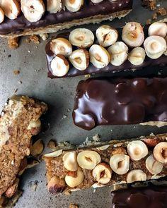 No Bake Dark Chocolate Nut Bars (Vegan, Gluten Free, Paleo, No Refined Sugar) - Baked Ambrosia