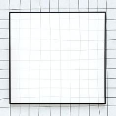 Black grid frame psd white background | free image by rawpixel.com / sasi