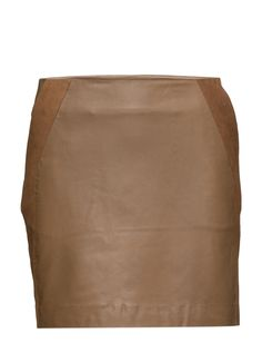 DAY - Tasha Concealed side zip Suede detail Two side pockets Made from leather Cool Chic Excellent quality and fit Sharp Skirt Camel, Pockets, Zip, Cool Stuff, Detail, Skirts, Summer, Leather, Shopping