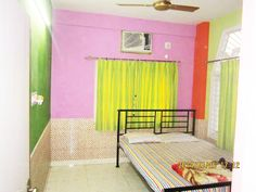 One of our deluxe rooms - WELCOME INN - KOLKATA. Visit http://www.himalayainn.in/kolkata2_intro.php #guesthouse #kolkata #budgethotel