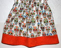 Day of the Dead  Skirt    Size 2 to 8