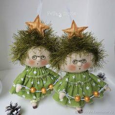 Купить Елочка в очках Смешная Кукла  Игрушка на Елку - елочные игрушки на елку, подарок на новый год