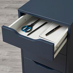 ALEX blue, Drawer unit, 36x70 cm - IKEA