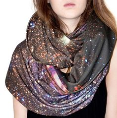 Galaxy Scarf. I don't know what's with all of the galaxy fashion, but I like it.