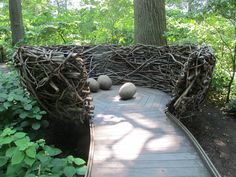A 'nest' for children at Winterthur Gardens